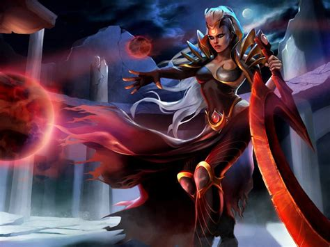 Video Game League Of Legends Characters Blood Moon Diana