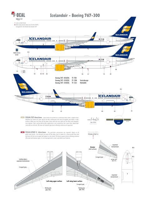 Icelandair - Boeing 767 - F-DCAL French Decals