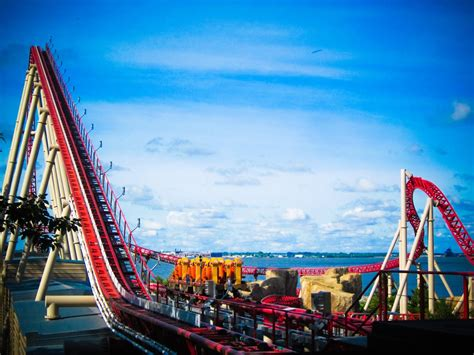 Ride roller coasters at Cedar Point in Ohio