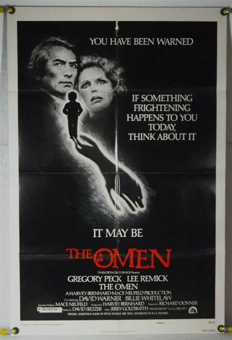 THE OMEN FF STYLE F ORIG 1SH MOVIE POSTER GREGORY PECK