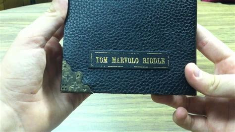 Tom Riddle's Riddle Diary Review - Noble Collection - YouTube