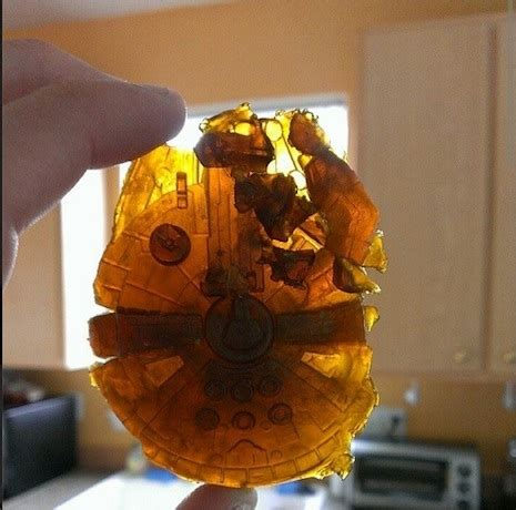 Finally, a Millennium Falcon made entirely of hash oil