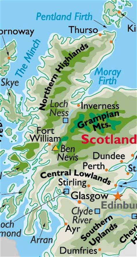 Scotland Maps Including Outline and Topographical Maps