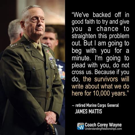 Image result for mattis knife quote   Military quotes