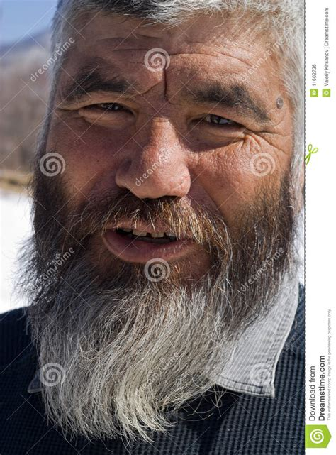 Old Mongoloid Man 15 Royalty Free Stock Image - Image