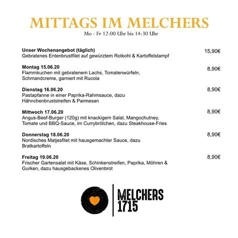 Melchers 1715 - Home - Vechta, Germany - Menu, Prices