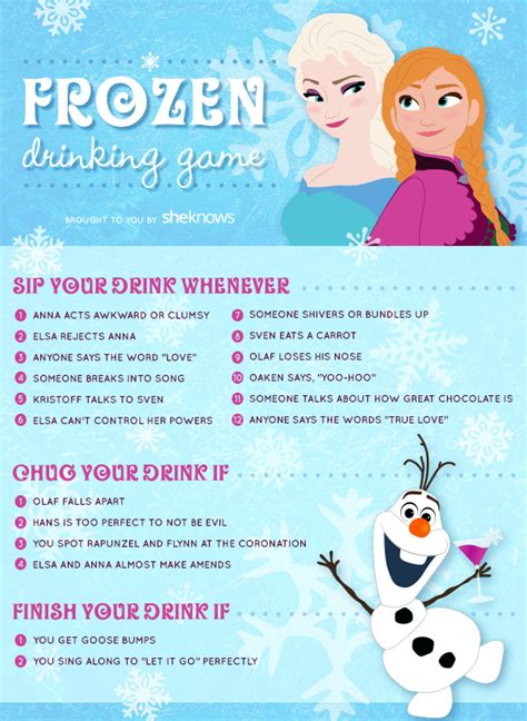 This Frozen drinking game is sure to keep you warm this