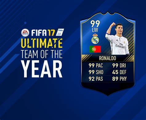 FIFA 17 TOTY: Ultimate Team of the Year nominees for FUT