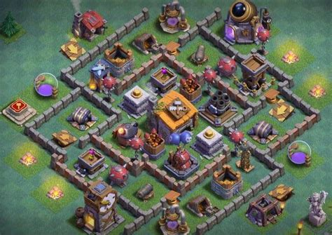 Builder Hall 6 Undefeated Base - GAME COC
