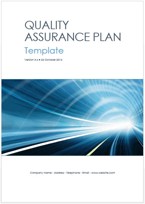 NEW – Quality Assurance Plan Templates (MS Word + Excel)