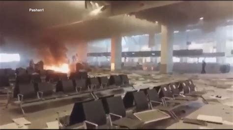 Brussels Airport Explosion Shown Seconds After Blast Video