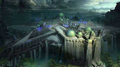 Wallpaper Shadow of the Colossus, author artwork, castle
