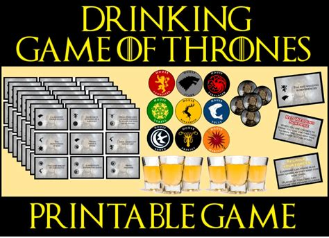 Game of Thrones Drinking Game - Printable