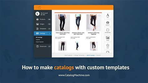 How to create a product catalog with custom templates